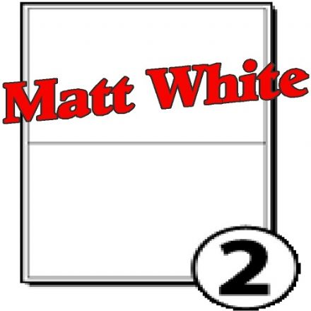 A5 size Matt White Polyester labels (2 per sheet)
